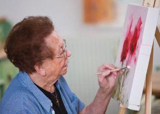 """Арт-терапия для пожилых людей - Частный дом престарелых """"Турбота"""""""